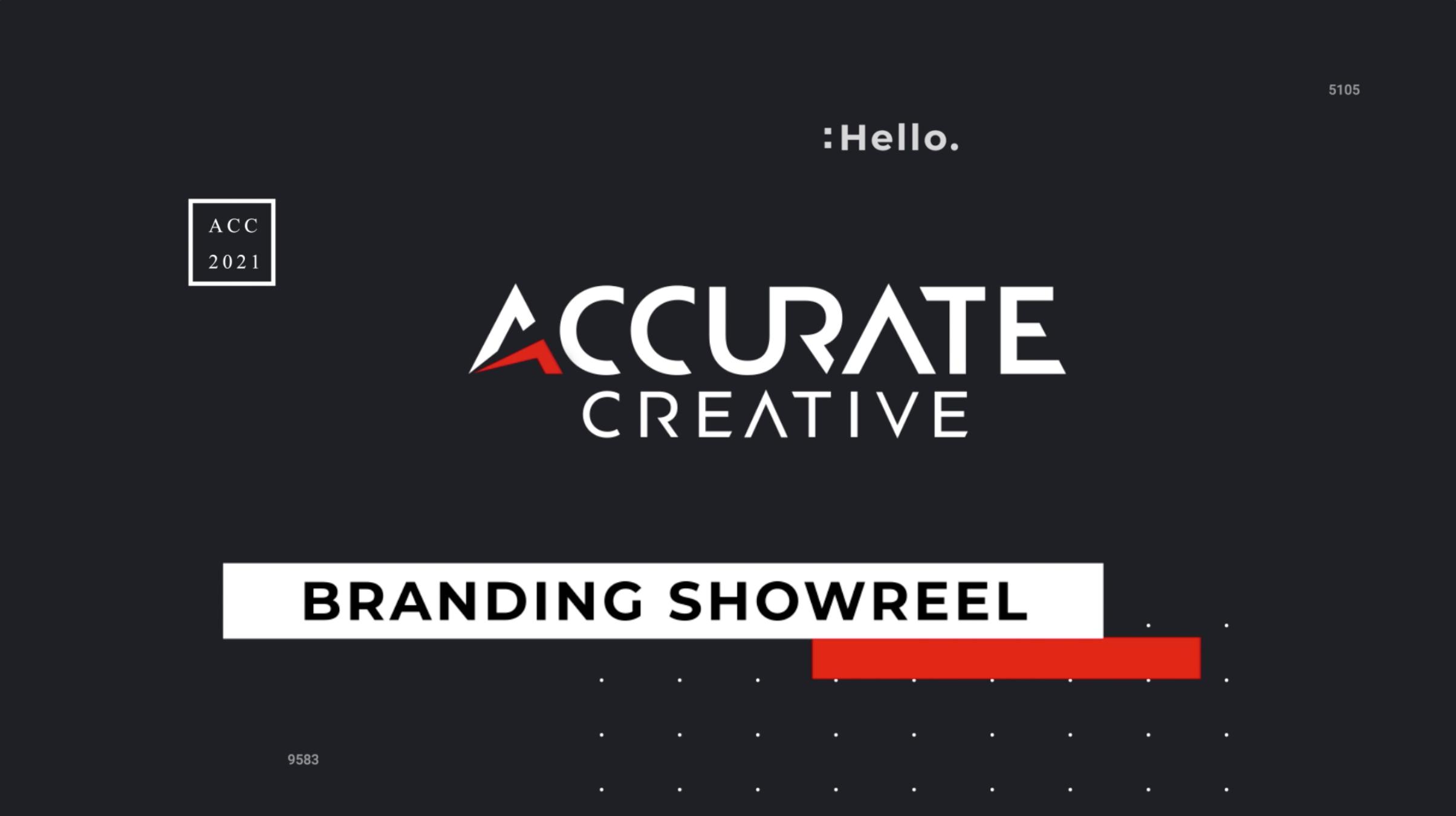 Accurate Branding Showreel 2021